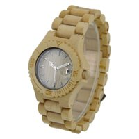 bangles collection - Wood Band Natural Wood Wooden Watch For Men women Zebra Wood Wristwatch Wooden Watch Date Bracelet Bangle Quartz Collection