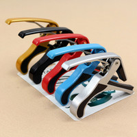 Wholesale In business colors guitar capo Hot Sale Electric Classic Guitar Quick Change Tune Clamp Key Trigger Cap Clip For Acoustic