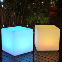 barstools furniture - 30CM led Furniture chair Magic Dice waterproof LED Remote control square cube barstools lumineux light for home bar nightclub wedding