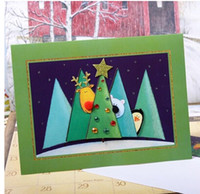 bear christmas cards - Children like cartoon animal christmas greeting cards white bear yellow dear with penguin festive decoration cards