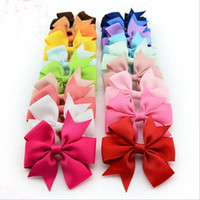Wholesale Luyue High Quality inch Grosgrain Ribbon Boutique Hair Bows With Clip Hairpins For Kids Girl Hair Accessories