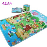 Wholesale 2016 Hot Sale New High Quantity non slip Double Side Cartoon Children Baby Mat For Indoor And Bedroom