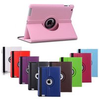 apples padded case - 360 Degree Rotating Swivel Stand Magnetic PU Leather Smart Protective Solid Color Case Cover for iPad Pro IPAD2 IPAD Air MINI1 MIN