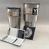 Wholesale YETI same paragraph Bilayer large capacity Cup OZ stainless steel Buckets travel mug car mug cup liquid
