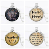 Wholesale 2016 Vinatge Harry Potter theme Pendants Necklace Women s Men Alloy Sweater chain necklace For Fashion Movie Jewelry