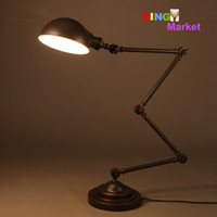 antique paint brush - Antique Bedroom Iron Telescopic Desk Lamp Decoration Retro Creative Study Table Lamp