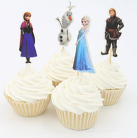Wholesale Cheap frozen Sofia Cupcake Topper Picks for baby shower child kids birthday party favor cake decoration