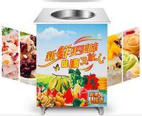 Wholesale Single flat pan fried ice cream machine for sale ice cream application fried ice cream machine modelCH F1 ice machineice machine