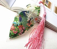Wholesale 20pcs Natural Dried Leaf Veins Peacock Bookmark Book card For Wedding Baby Shower Party Birthday Favor Gift Souvenirs Souvenir