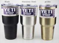 Wholesale 50pcs colors Yeti oz Rambler Tumbler Bilayer Stainless Steel Insulation Cup OZ Cups Cars Beer Mug Large Capacity Mug Tumblerful