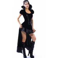 adult fairy tales - Halloween Cosplay Adult Sexy puff sleeves wicked Queen Costumes For Women Role Play Fantasia Sexual Fairy Tales S8426