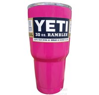 Wholesale Pink YETI Coolers Stainless Steel Mugs oz Large Capacity Stainless Steel Car Cup Liquid Cup Car Vacuum Cup By DHL Free