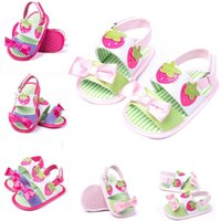 Wholesale New Arrivals Baby Toddler Children s Girl s Sandals First Walker Shoes Open Toe Bow Cotton Fabric Size CM KA483
