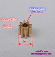 Wholesale 10PCS Metal gear modulus teeth for gear box main shaft copper gear bore diameter mm