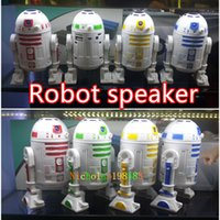 audio recording sound cards - Newest Robot Star Wars Mini Protable Bluetooth Speakers Iron Man Figure Robot Stereo Subwoofer Loudspeaker Support Recording TF USB VS C