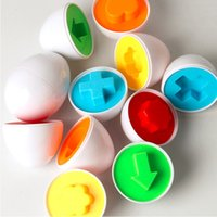 Wholesale 6Pcs Eggs Learning Education Toys Kids Mixed Shape Wise Pretend Puzzle Smart Baby Kid Learning Toys Tool Brain Games