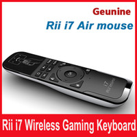 Wholesale Mini Fly Air Mouse and Wireless Keyboard Combo Rii Mini i7 G Air Mouse Keyboard Remote for HTPC Android TV Box PC Laptop