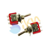 ac bass - new pc Mini Way Electric Guitar Bass Toggle Switch AC V A ON ON Red Blue for Option