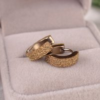 Wholesale Hot Sale Gold Silver Plated Stainless Steel Hoop Earrings For Women Femme Fashion Adhesive Jewelry