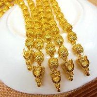 L'or jaune de Placer d'or de haute qualité 24k creuse le collier de dragon pour les hommes La meilleure vente chaude G-04 en 2016