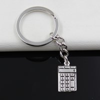 animal calculator - Fashion diameter mm Key Ring Metal Key Chain Keychain Jewelry Antique Silver Plated calculator counter mm Pendant