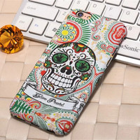 apples sugar - For Apple iPhone Plus Case Plastic Colorful Sugar Skull Facial Pattern Designs Luminous Effect Fluorescent Back Cover for Iphone S Plus