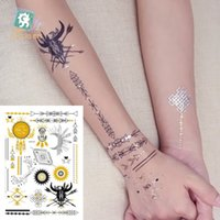 Wholesale WSST016 gold stamp Metallic Body Art environmental protection hot metal fashion personality gilt silver tattoo stickers