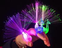 Wholesale New light fingers light color peacock fiber optic light TOYS Children s toys party decoration HY1009