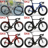 Wholesale Good quality Factory sale DIY Complete road bike with SK De rosa carbon bike frames mm carbon wheels Made in China