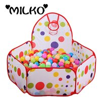Wholesale m m m Safety Tents for Children with Basketry Kids Play Tent Baby Playpens Mesh Indoor Stress Ocean Ball Pool Play Yard