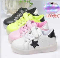 Wholesale children shoes with light autumn baby boys girls LED light shoes chaussure enfant kids fashion breathable boys sneakers
