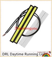 Wholesale NEW CM LED COB DRL Daytime Running Light Waterproof DC12V External Led Car Styling Car Light Source Parking Fog Bar Lamp
