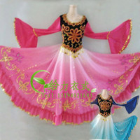 Wholesale Xinjiang dance costume dance costumes Uygur ethnic dance chinese dance apparel Chiffon Skirt