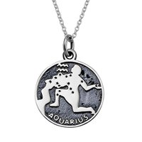 aquarius girls - Genuine Silver Sides Vintage Ancient Greece Aquarius for girls necklace quot
