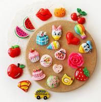 Wholesale Korea Styles Cute Fruit Cartoon Creative Fridges Magnets Flexible Fridge Magnets Gift Toys Mixture New Designed