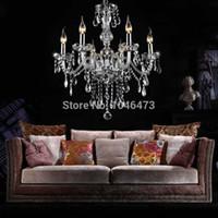 Wholesale US SJD Modern Lights Crystal Chandelier Candle Luxury Pendant Lamp Fixture Hallway Droplight