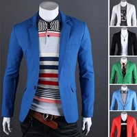 Wholesale 2016 autumn multicolor thin casual men s linen one button solid color Korean Slim small suit jacket