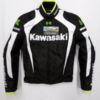 automobile clothing - 2015 New arrival men motorcycle jacket KAWASAKI automobile motocross motorcycle racing clothing with warm liner Breathable Anti UV