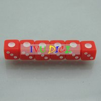 automatic numbering machine - 100pcs MM D6 Mini dice RED with WHITE number point automatic mahjong machine dice bosons IVU
