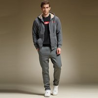 ankle sweater - Autumn And Winter Men Hooded Tracksuits Sheep Velvet Sweater Sports Pants Plus Velvet Thicker Sports Suit