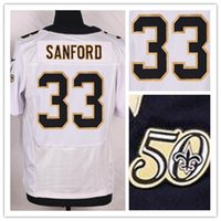 Wholesale new season New Player SANFORD White Elite Football Jerseys with the th anniversary Patch Football Wear Shirts top Cheap Football wear