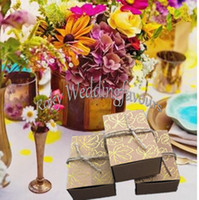 autumn wedding favors - Fall Autumn Kraft Gold Maple Leaf Favor Boxes Wedding Party Favors Bridal Shower Wedding Reception Decor