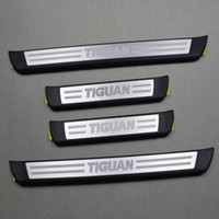 aluminium entry doors - Original Entry Strip Protective Foil With Lettering Aviation Aluminium Car Welcome Pedal door sill For Volkswagen Tiguan