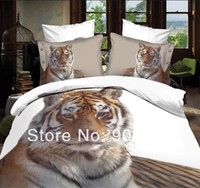 Wholesale 2014 new discount D bed sets tiger animal printed bedding full queen size doona quilt duvet covers home textile linen coverlet