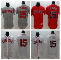 Rugby Men Short Red Sox Jerseys #15 Pedroia Jersey White Fashion Stars & Stripes Flex Base Player Jersey Stitched Size 40-56 Mix Order Baseball Jersey