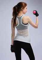 athletic shirts for women - 2016 Woman Running Movement Dry Quick tees breathable Gym athletics shirt fitness sexy hollow out sleeveless mesh shirt for female