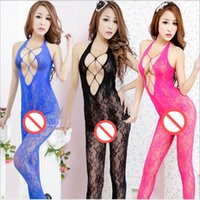 Wholesale Sexy Costumes Sexy Underwear The New Grid Body sexy Jacquard teddy lingerie BodyStocking Sexy Lingerie HotConjoined