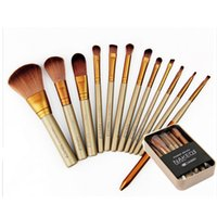 Wholesale 100pcs Makeup Tools Brushes Nude piece Professional Brush sets Iron box gift
