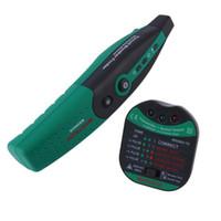 Wholesale MASTECH MS5902 Circuit Breaker LED Tester Finder CATII V Zeroline V EU