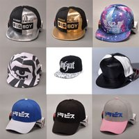 achat en gros de pyramide de la mode-Pyramid Plastic Studs Bling Flat Hip Hop Cap Rivet Spikes Hat Rock Punk Ajustable Snapback Caps Fashion Leather Ball Hats Girls / Boys